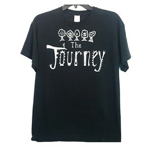 The  Journey T shirt, by Gilden Black Size-M